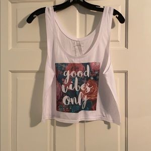 New Good Vibes Only tank top